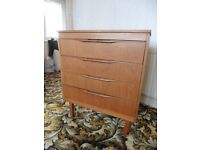 Retro 70s bedroom suit. Wardrobe , Chest of Drawers + Dressing table