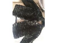Girls black fluffy coat Hadley worn good condition