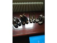 4 pairs of ladies shoes size 4 and 5