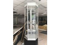 Glass display cabinet 360 degrees