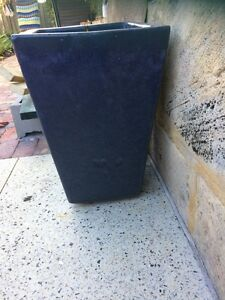 Blue ceramic pot plant - 500mm high Kallaroo Joondalup Area Preview