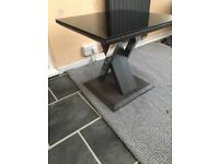 Brand New DFS Grey,Silver & Black top gloss table