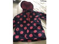 Girls lined rain coat Age 7-8