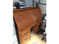 Solid Wood rolltop computer desk