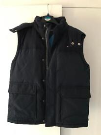 Tommy Hilfiger Boys Navy Down Padded Texas Hooded Gilet