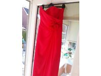 Size 10 Strapless 'watermelon colour ' Alfred Angelo dress