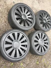 18inch 5x100 5x112 Audi RS8 Wheels - black - fits all vag cars golf MK4 Mk5 MK6 Mk7