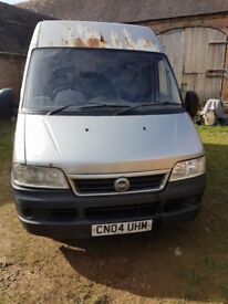 Fiat ducato 2.3 high top long wheel base.