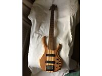 Ibanez BTB676 six string bass guitar in natural finish
