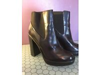 Oxblood High Heel Ankle Boots