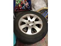 "4 X Peugeot 15"" alloy wheels"