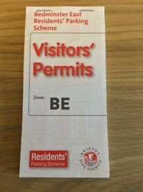 25x Bristol Parking Permits for Zone BE.