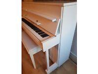 White Steinhoff Piano