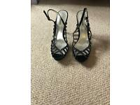 Black dune party shoes - size 40
