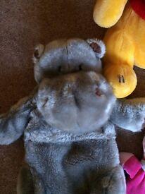 Fluffy Hippopotamus Hot Water Bottle Cover or Pyjama Case