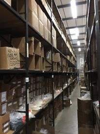 JOB LOT hi-lo industrial long span shelving ( pallet racking , storage )