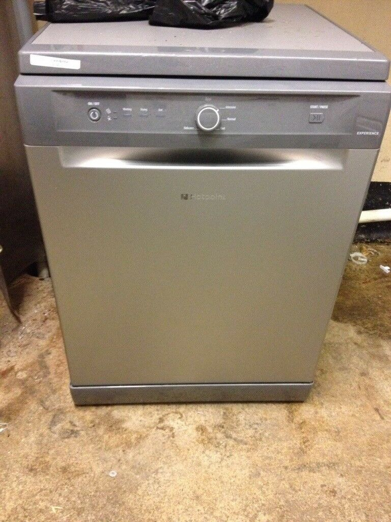 silver hotpoint dishwasher for sale