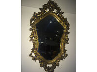 Great Looking Antique Style French Rococo Ornate Wall Mirror Gilt Wood Frame