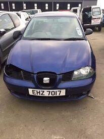 2003 Seat Ibiza, Diesel, 1.9TDI, For Breaking only