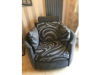 Swivel fully recliner chair