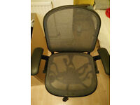 Computer Office Chair KNOLL Chadwick Black, very good condition and working order - BARGAIN !
