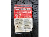 New Van/trailer tyre 195/70 R14 96N M+S rating. Trailermaxx (Maxiss)
