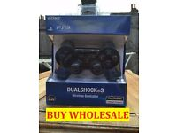 SONY PS3 PLAYSTATION 3 DUALSHOCK SIXAXIS WIRELESS CONTROLLER-BLACK