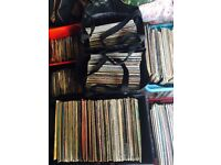 "Big job lot of 12"" LP Albums (266) and 7"" Singles (200)."