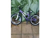 carrera girls purple and white 20 inch bike