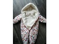Baby girl winter suit 9-12 months