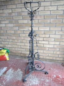 Ornemental wrought iron lamp standard or flower stand