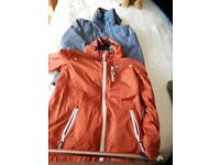 2 Boys fleece lined rain coats