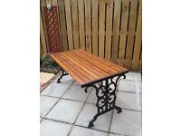 Wrought iron garden table immaculate condition