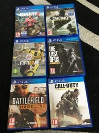 PS4 games, excellent condition