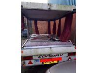 Caravan trailer needs work but could be converted into a normal trailer