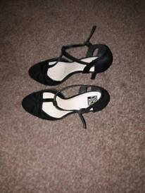 Womens black suede shoes in a size 6 from the Debenhams Collection