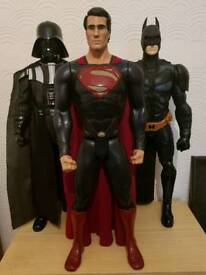 3 superhero figures 31 inch