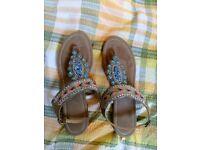 Boho style sandals size 7-8