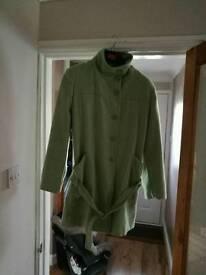 Ladies mint green coat size 12-14