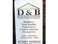 Builder (local) extensions, conservatories, home improvements, refurbs, driveways, flagging, fencing