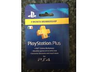 PlayStation plus 3 month membership