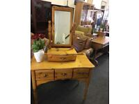 Pine dressing table can deliver