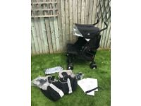 Maclaren Twin Techno black Double seat Stroller