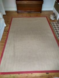 Jute carpet / rug / mat / edged