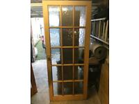 Pine Glazed door - Great condition - CAN DELIVER - £20