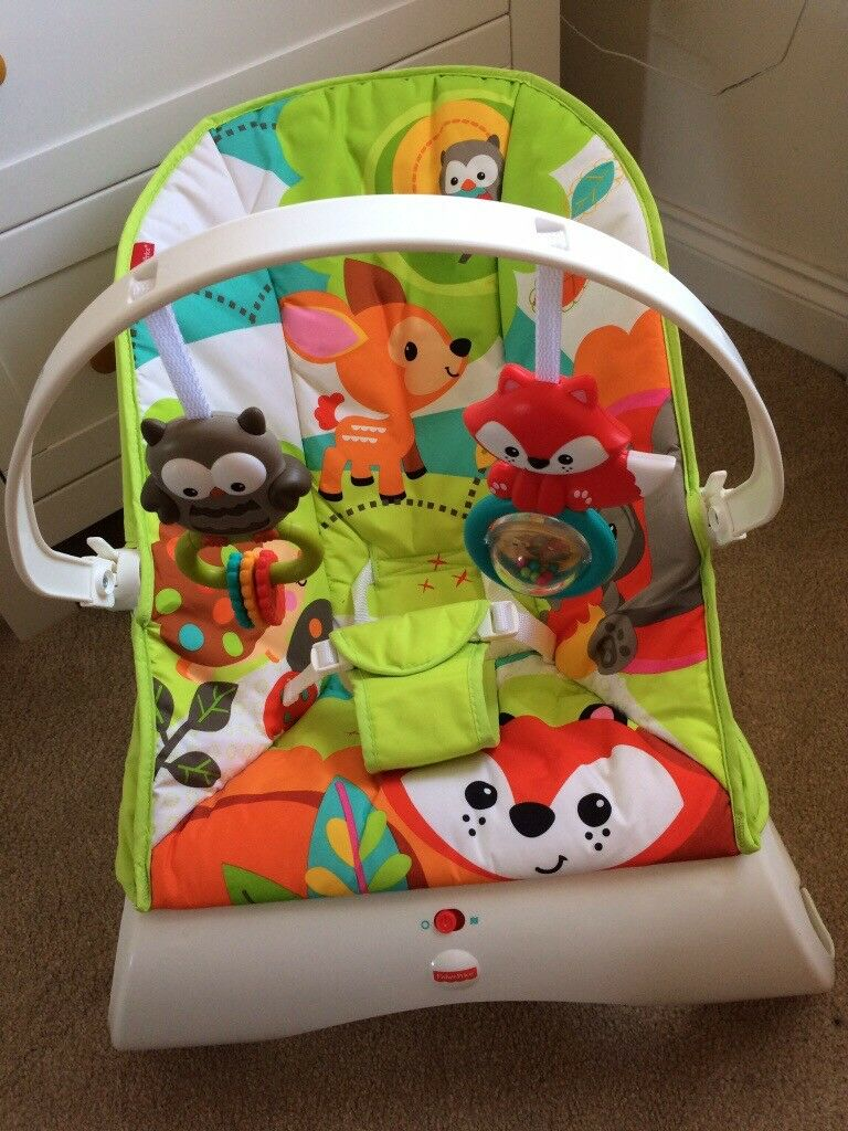 Fisher Price Woodland Friends Comfort Curve Bouncy Chair