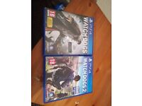 watch dogs 1-2 for playstation 4