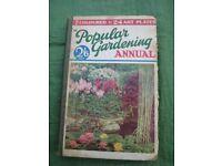 Popular Gardening Annual 1934 Hardback Edited by H.H.Thomas, Published by The Amalgamated Press Ltd