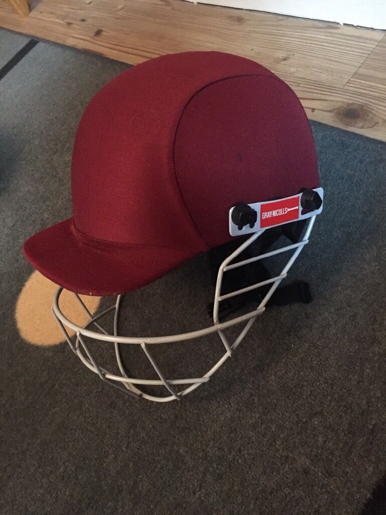 Gray Nicolls burgundy cricket helmetin Taunton, SomersetGumtree - Burgundy colour Senior helmet (57 62cm) Fully adjustable chin strap, grill, back strap Fully intact COLLECTION ONLY