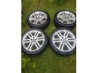 7x wheels with tires for Vauxhall Saab